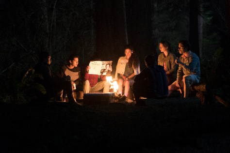 "DEAD OF SUMMER - ""Patience"" - Set in the late 1980s, school is out for the summer and a sun-drenched season of firsts beckons the counselors at Camp Stillwater, a seemingly idyllic Midwestern summer camp, including first loves, first kisses—and first kills. Stillwater's dark, ancient mythology awakens, and what was supposed to be a summer of fun soon turns into one of unforgettable scares and evil at every turn. (Freeform/Katie Yu) MARK INDELICATO, PAULINA SINGER, ELIZABETH LAIL, RONEN RUBINSTEIN"