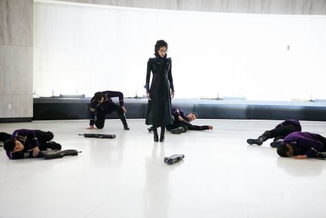 "KILLJOYS -- ""How To Kill Friends and Influence People"" Episode 210 -- Pictured: Hannah John-Kamen as Dutch -- (Photo by: Ian Watson/Syfy/Killjoys II Productions Limited)"