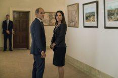 House of Cards: Season 5 -Doug Stamper (Michael Kelly), Leann Harvey (Neve Campbell) - Photo by Amanda Maes/Courtesy of Netflix