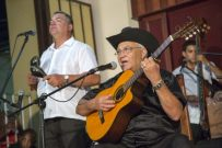 Eliades Ochoa (guitar and vocals) performs at Casa de la Troba in Santiago de Cuba in the documentary BUENA VISTA SOCIAL CLUB: ADIOS, a Broad Green Pictures release.Credit: Denise Guerra / Broad Green Pictures
