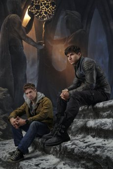 KRYPTON -- Season:1 -- Pictured: (l-r) Shaun Sipos as Adam Strange, Cameron Cuffe as Seg-El -- (Photo by: Gavin Bond/Syfy)
