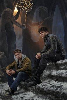 KRYPTON -- Season:1 -- Pictured: (l-r) Shaun Sipos as Adam Strange, Cameron Cuffe as Seg-El -- (Photo by: Gavin Bond/Syfy)
