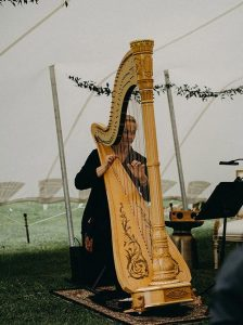 Eclipse director's pre-wedding brunch harpist in New Zealand