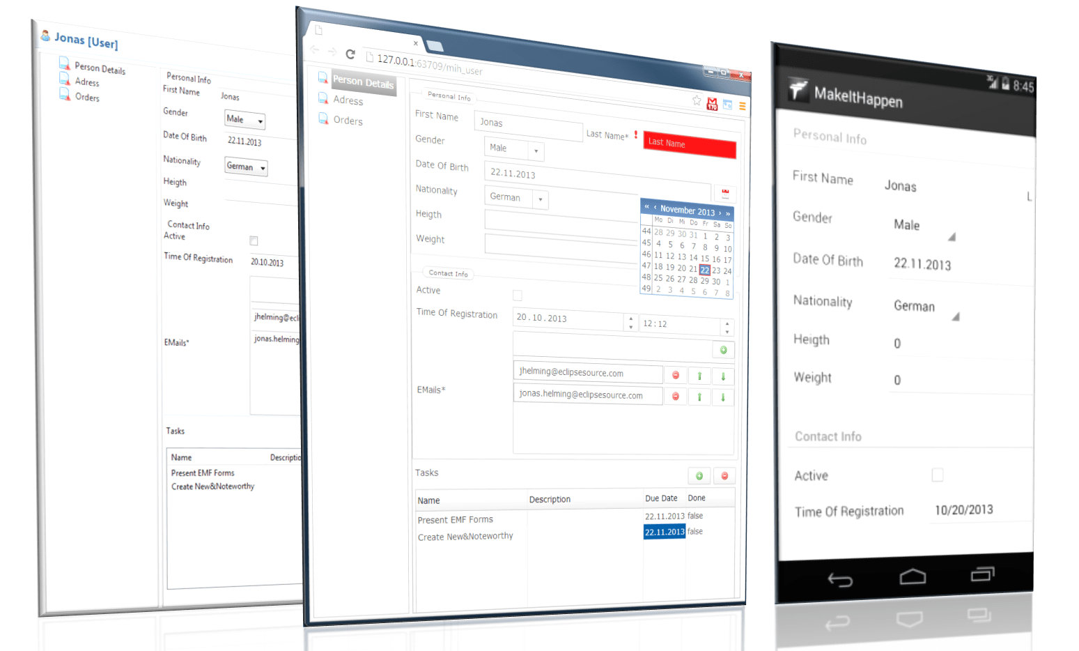 Getting started with EMF Forms