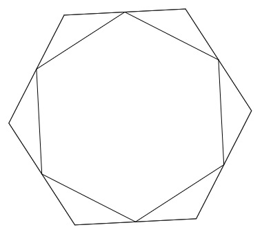 Hexagons, trigonometry and symmetry: two solutions to an