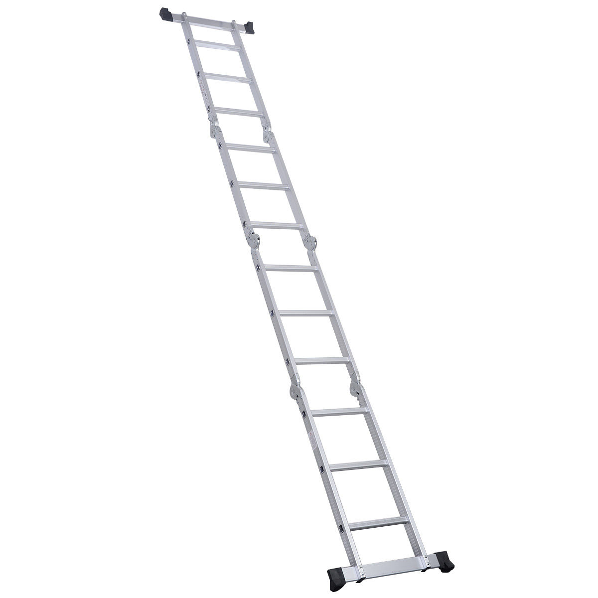 12 5ft Multi Purpose Aluminum Folding Step Ladder Scaffold