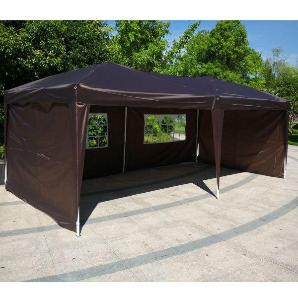 10x20 Ez Pop Wedding Party Tent Folding Gazebo Canopy Heavy Duty Carry Case