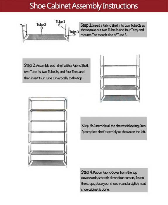 brusali shoe cabinet instructions
