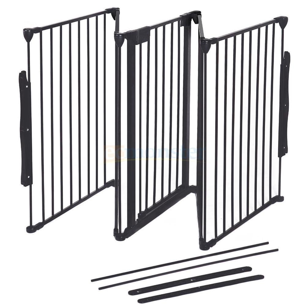 "Wood Stove Baby Fence Hearth Gate 25"" X30"" Baby Safety Hearth Gate Steel Fire Gate Fireplace"