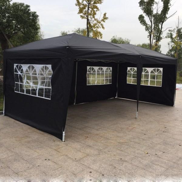 10'x 20' Ez Pop Wedding Party Tent Gazebo Canopy 6 Sidewalls Withcarry Bag