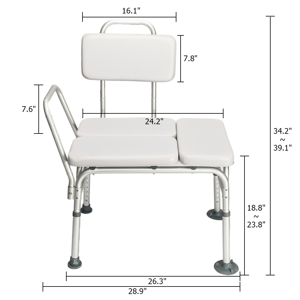 handicap shower chair old wicker chairs uk drive medical w padded seat backrest bath tub