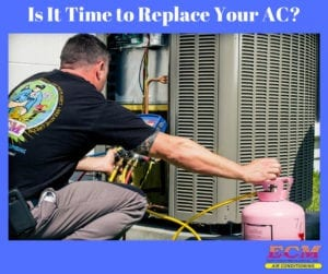 ecm ac technician doing an ac tune-up