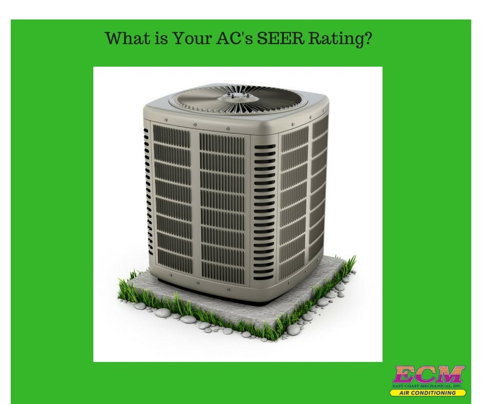 an air conditioner with a seer rating of 16