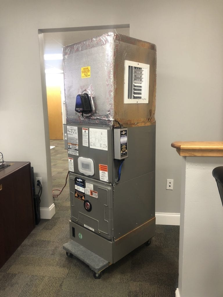 ECM has taken it to the next level and Built a CUSTOM Air Scrubber for our Office Staff