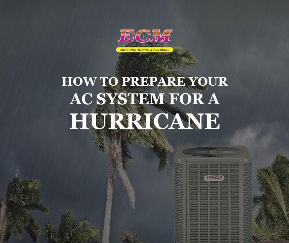air conditioner hurricane preparation