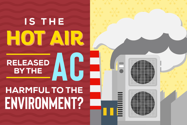 Is the hot air released by the AC harmful to the environment