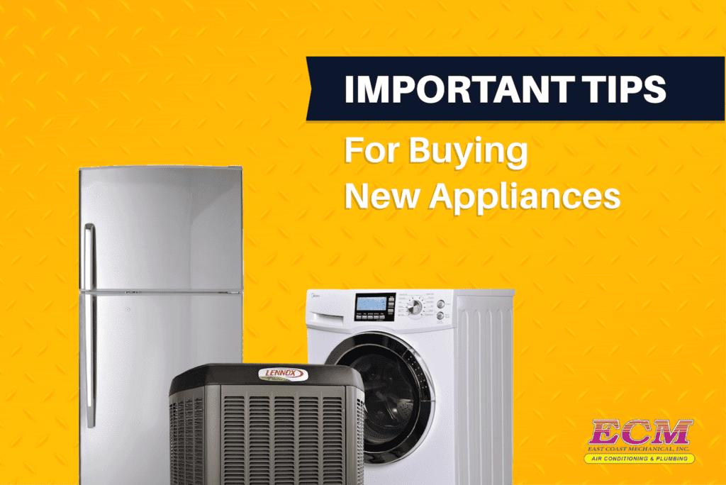 buying new HVAC appliances