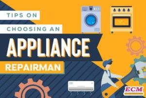 choose an appliance repairman