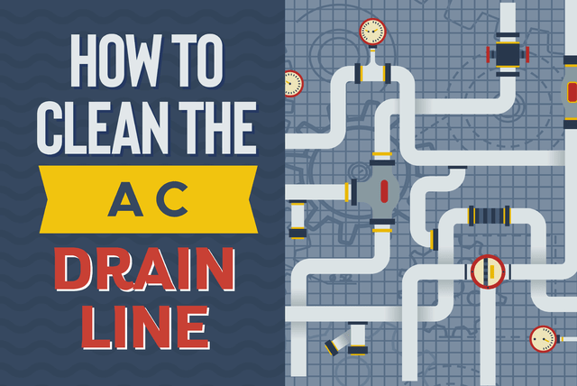 how to clean ac drain line