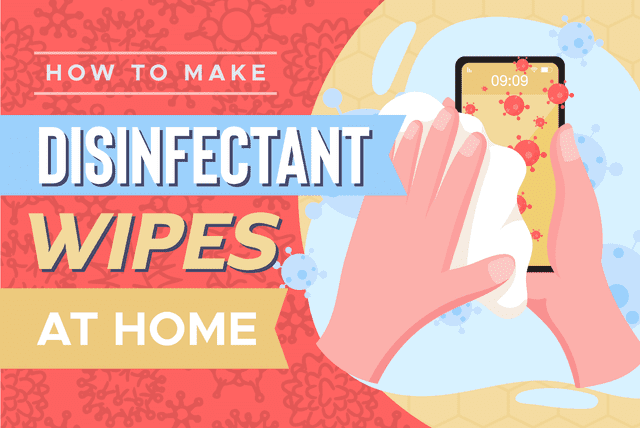 how to make disinfectant wipes at home