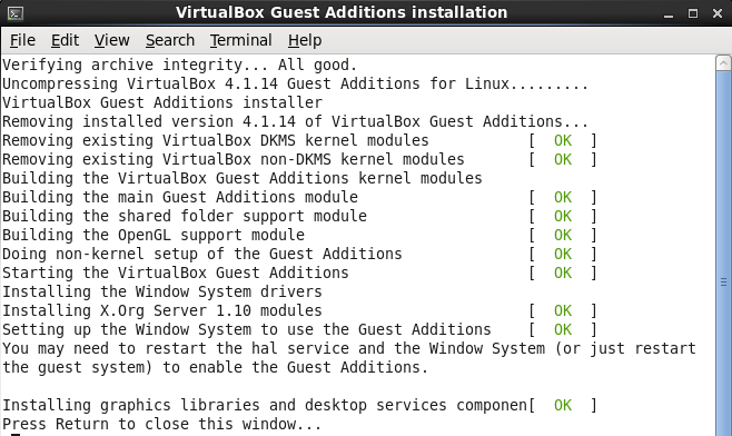 Installing VirtualBox Guest Additions on Oracle Enterprise