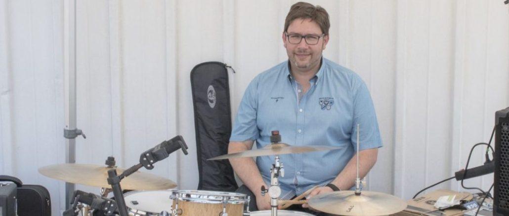 Vincent Gaud s'est mis à la batterie depuis trois ans