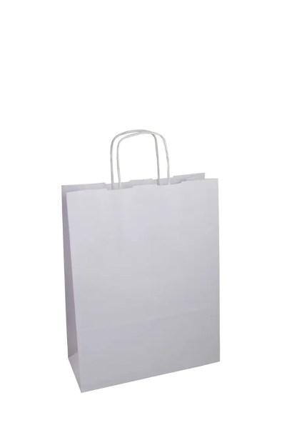 sacchetto carta bianco manici ritorti