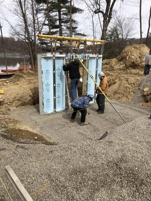 Lake Shore House Wall Foundation