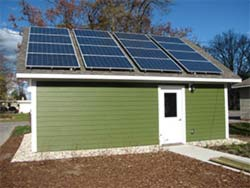A South-Facing Garage Solar PV Install