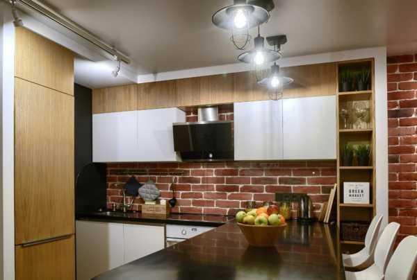 натяжные потолки на кухню фото дизайн 7