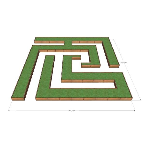 Деревянная грядка - лабиринт / 773x766
