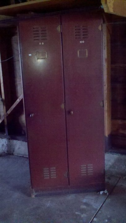 We love antiques, look at these candlestick lockers