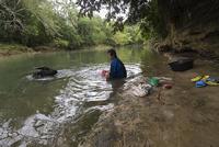De was doen in de rivier