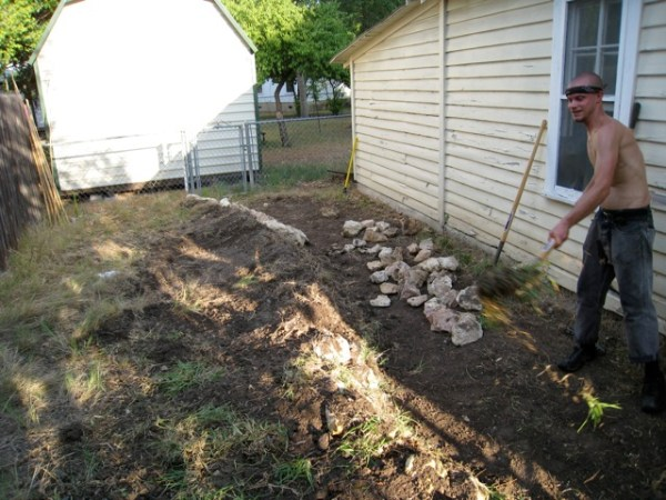 sideyard garden project - spring