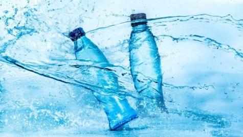 Two bottles of bottled water