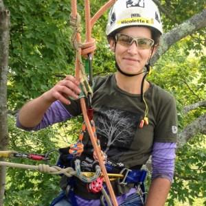 Arboriculture student