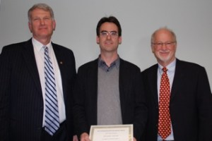 From left to right: Dean Steve Goodwin, Alex Schreyer, and Curtice Griff