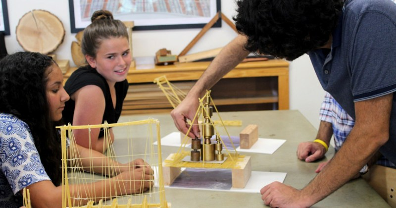 Eureka Girls Build and Test Bridges with BCT PhD Students