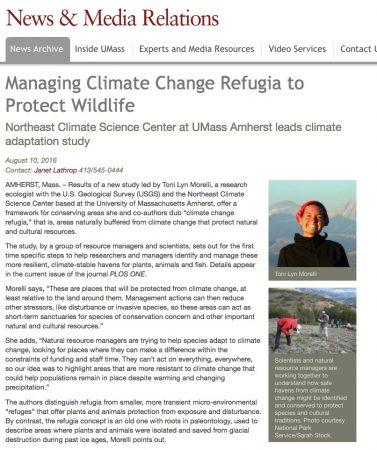climate change refugia