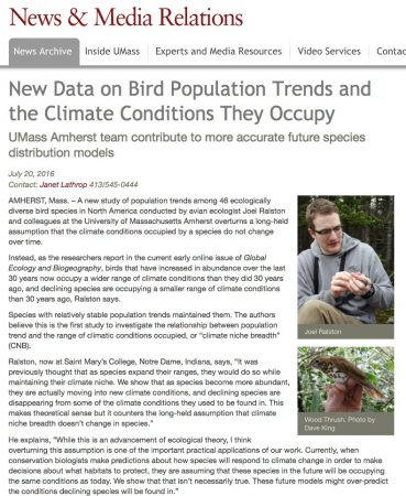 new data on bird population