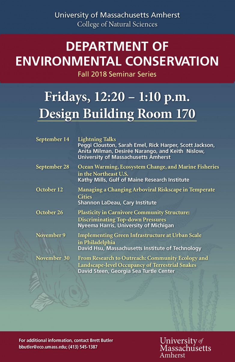 "ECo Seminar – ""Lightning Talks"" – 170 Design Building"