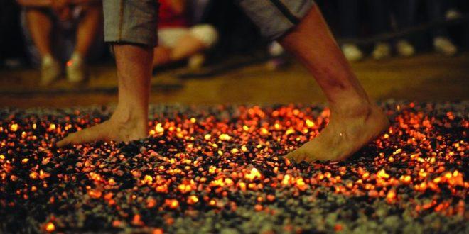 Firewalking - Walking on fire in order to evolve