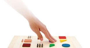 Hand Touching Color Code Board