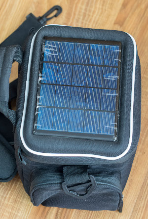 solar backpack for photographers
