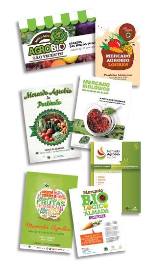 Cartazes de alguns dos Mercados Agrobio