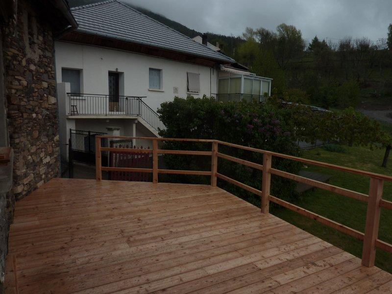 Terrasse en mlze de Amnagement extrieur bois de Eco2scop  httpseco2scopfr