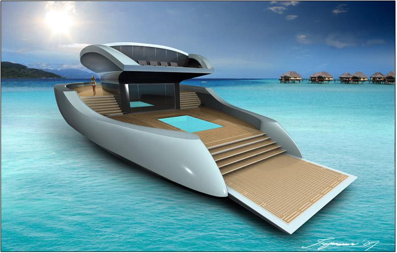 Iate De Luxo Movido A Energia Solar Design Apresentado Na