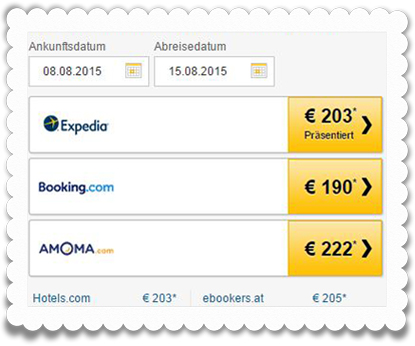 Die auf Tripadvisor gelisteten Buchungs-Portale zahlen bei einem Klick des Besuchers.