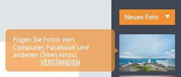 FotoJet: Vorlagen nutzen oder eigene Fotos hochladen