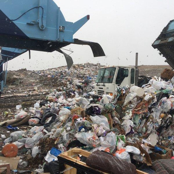 segregate waste landfill